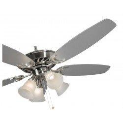 Ventilatore da soffitto, stroke, 132, cromato/pale double-face, con luce, Lba Home