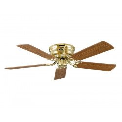 Ventilatore da soffitto, Classic Flat III- MP, ottone lucido/ faggio/ quercia anticata, Casafan