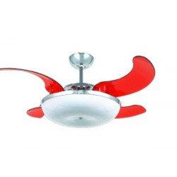 Ventilatore da soffitto, Mela, con pale a scomparsa, 114cm, design, con luce, Lba Home