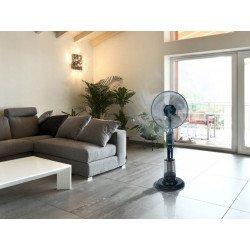 Ventilatore nebulizzatore, Misty 12,ø 65 cm, per interni ed esterni, con telecomando, Purline