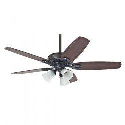 Ventilatore da soffitto, Builder Plus NB , 132cm, classico,  ciliegio/noce a vista , corpo bronzo, con luce, Hunter