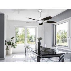 Ventilatore da soffitto, Mistral White, 122cm, design, bianco/nero, Purline by Klassfan. Fan.