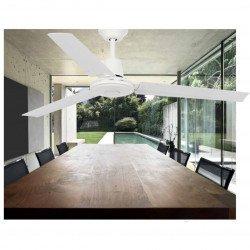 Ventilatore da soffitto, Eco Indus, 120cm, bianco, Industriale, 120 cm, Faro.
