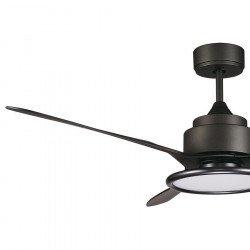 Ventilatore da soffitto, Pometeo, 137 cm, DC, grigio scuro, moderno, con luce, Lba Home