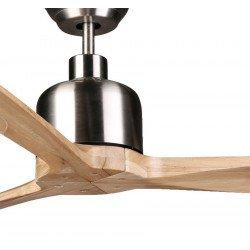 Ventilatore da soffitto, Latino, 166cm, DC, cromo/legno massiccio, super destratificatore, termostato, wifi, Klassfan