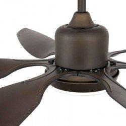 Ventilatore da soffitto, Tilos, DC, 168,5 cm,  marrone scuro, con  luce, Faro.
