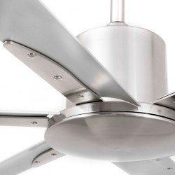 Ventilatore da soffitto, Andros, 213cm, DC, alluminio, industriale, Faro.