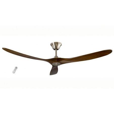 Ventilatore da soffitto, Taurus, 178cm, DC, iper silenzioso, legno/cromo, Lba Home.
