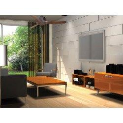 Ventilatore da soffitto/ destratificatore, Modulo, diametro 127cm, motore DC, potente, con termostato, Klassfan
