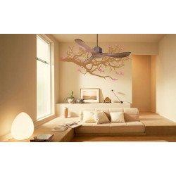 Ventilatore da soffitto, destratificatore, ideale per camere da letto, 132cm, con termostato, marrone, Klassfan
