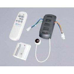 Telecomando a raggi infrarossi per ventilatori da soffitto con funzione dimmer.