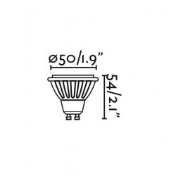 Pack lampadine LED, 5 W, GU10, LED BIANCO CALDO, 45 °, Faro.