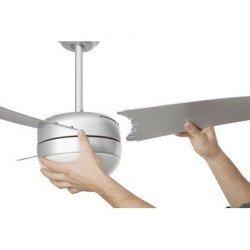 Ventilatore da soffitto, Easy, 105cm, moderno, grigio, con luce, Faro.