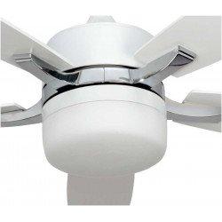 Ventilatore da soffitto, Stella white, 132cm, con luce, bianco Lba Home.
