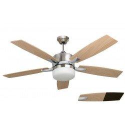 Ventilatore da soffitto, Stella Pino,  132 cm,  niquel/pino/wengé, con luce, Lba Home