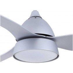 Ventilatore da soffitto, Bell Silver, 132cm, con luce, argento, Lba Home