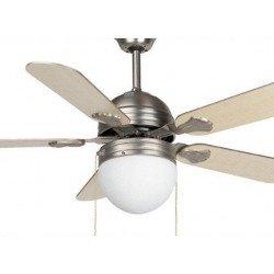 ventilatore da soffitto, Agadir, 107cm, con luce, metallo/legno, Faro.