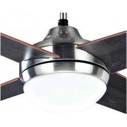 Ventilatore da soffitto, Elysa Wengé, 112cm, pale double-face faggio/wengé, con luce, Lba Home