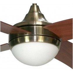 Ventilatore da soffitto, Artus Cerisier, 116cm, pale ciliegio/noce, con luce, telecomando, Lba Home