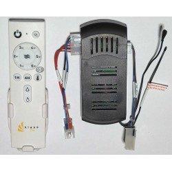 Telecomando per ventilatori da soffitto della serie Modulo + termostato. Klassfan.