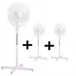 Pack 3 ventilatori a piantana StandFan 40, diametro elica 40cm, altezza 120cm, bianchi, lba home
