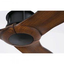 Ventilatore da soffitto, Just Fan, 128 cm, DC, design, nero/ legno, Faro