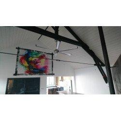 Ventilatore da soffitto/destratificatore, Big Cool Eco 236, 236cm, alluminio, con luce, DC, iper silenzioso, Klassfan