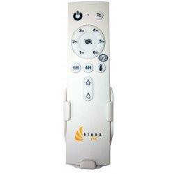 Ventilatore da soffitto/destratificatore, 127cm di diametro, bianco, potente, termostato, Klassfan. + Asta di 60cm