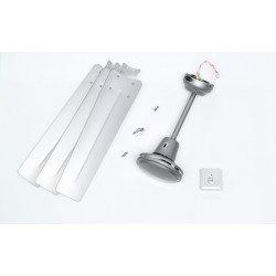 Ventilatore da soffitto,  grigio industrial, 142 cm, grigio, comando a parete, Lba Home.