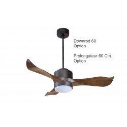 Ventilatore da soffitto, super destratificatore, Modulo, 106cm, DC, iper silezioso, +termostato, con luce, Klassfan