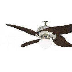 Ventilatore da soffitto, Jasmine, 107 cm, acciaio/rovere invecchiato, con luce e telecomando, Westinghouse.