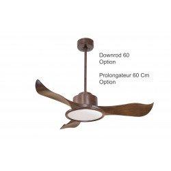 Ventilatore da soffitto, Modulo, 106cm, marrone/legno, DC, iper silenzioso, super destratificatore, con luce,  Klassfan