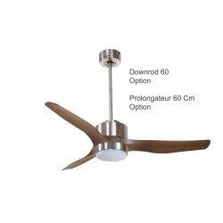 Ventilatore da soffitto/ destratificatore, Modulo, diametro 127cm, motore DC, potente, con termostato, +luce,  Klassfan
