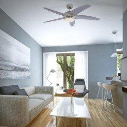 Ventilatore da soffitto, Bendan, 132cm, grigio, con luce e telecomando, Westinghouse.
