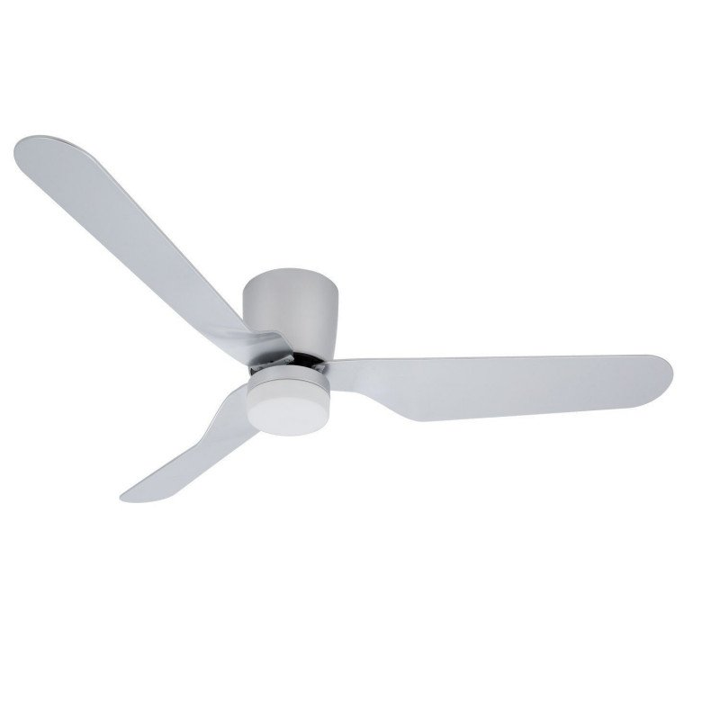 Ventilatore da soffitto, Low profile, 132cm, design, per soffitti bassi, con luce, telecomando e WIFI ,Klassfan
