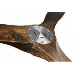 Ventilatore da soffitto, ECO Genuino, 122 cm, pale noce scuro, corpo acciaio cromato, DC, iper silenzioso, Casafan.
