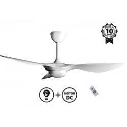 Ventilatore da soffitto, Helix II, 132cm, DC bianco, luce 3 toni + dimmer, +termostato, Klass Fan