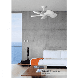 Ventilatore a soffitto, Splash, 92 cm, design, corpo, Il futuro dei ventilatori.