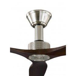 Ventilatore da soffitto, Softy 60 BS-DW, 152cm, cromo/noce scuro, DC, iper silenzioso, Klassfan
