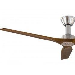 Ventilatore da soffitto, Softy 60 BS-SW, 152cm,  cromo/noce, DC, iper silenzioso, Klassfan.