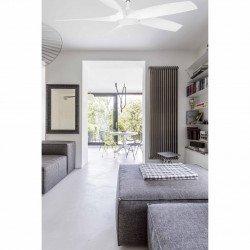 Ventilatore da soffitto Cocos, 137 cm, DC, bianco, con luce, Faro.