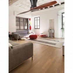 Ventilatore da soffitto, Lama, 143cm, nero/legno di noce, design, Faro.