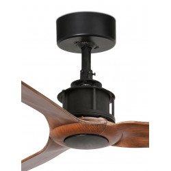 Ventilatore da soffitto, Mini Just Fan, 81 cm, DC, design, nero/ legno, Faro.