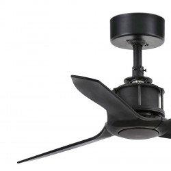 Ventilatore da soffitto, Mini Just Fan, DC, 81 cm, DC, design, nero opaco, Faro.