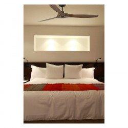 Ventilatore da soffitto, Morea, 152 cm, DC, design, nero/ pale ABS-legno , Faro.