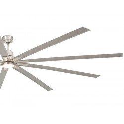 Ventilatore da soffitto, Manhattan , 244cm, DC, niquel opaco, industriale, Faro.