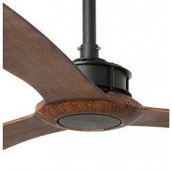 Ventilatore da soffitto, Just Fan, 178 cm, DC, design, nero/ legno, Faro