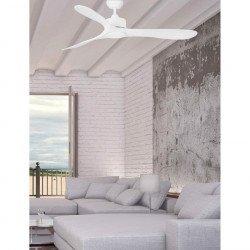 Ventilatore da soffitto, Luzon, 132cm, bianco, design moderno, Faro.