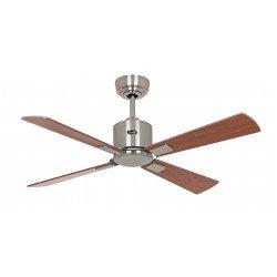 Ventilatore da soffitto, Eco Neo III 103 BN NB/KI, 103 cm, DC,  corpo cromo spazzolato, ciliegio/noce, Casafan