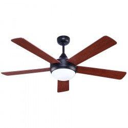 Ventilatore da soffitto, Cinqo rustic, 130cm, basalto/ noce/ciliegio, con luce, Lba Home